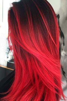 23 Beautiful Red Ombre Hair hair Hair styles, Hair Color, Dyed red hair dye for dark hair - Red Hair Black Hair Ombre, Best Ombre Hair, Hair Color Purple, Hair Color For Black Hair, Cool Hair Color, Color Red, Hair Colors, Brown Hair, Burgundy Hair