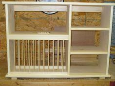 NEW Triple shelf wood plate dish rack glasses spices by holliwalt