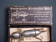 Shakespeare and Rhodes antique fishing lures;