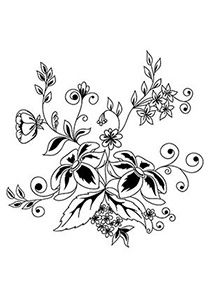 Flower Bunch Coloring Page
