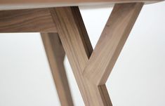 Trees and Rocks table, detail of the frame, made of solid oak.