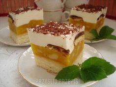Jabłecznik na biszkopcie z bitą śmietanką Tiramisu, Smoothies, Cheesecake, Food And Drink, Healthy Eating, Pudding, Menu, Yummy Food, Sweets