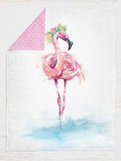 Personalized Flamingo Baby Girl Blanket, Tropical Nursery Bedding, Floral Minky Blanket, Tropical Baby Shower, Stroller Blanket, Custom Gift Flamingo Nursery, Tropical Nursery, Floral Nursery, Flamingo Print, Stroller Blanket, Minky Baby Blanket, Baby Girl Blankets, Nursery Room Decor, Nursery Bedding