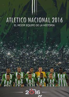 Atlético Nacional 2016, el mejor equipo de la historia. Metallica, Club, Soccer, Rey, Movie Posters, Movies, David, Happy, Champs