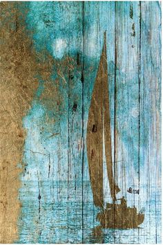 Smooth sailing on an old barn board painting....