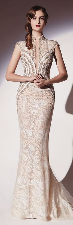 Dany Tabet Couture S/S 2014 ~ I WILL wear a dress like this one day and look phenomenal wearing it! ❤