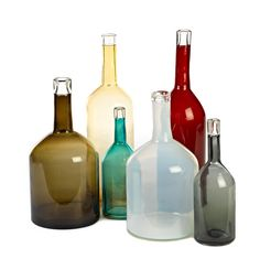 Individually designed, mouth blown glass vases by Pols Potten | Exhibit Interiors | Shop Now! http://www.exhibitinteriors.com.au/glassware #exhibitinteriors #glass #italy #dutch #greece #loungroom