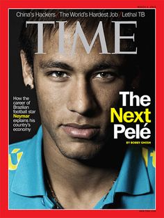 TIME: Neymar - The next Pele./ Neymar is the only Brazilian athlete to ever grace the cover of TIME magazine. Neymar Jr, Time Magazine, Soccer Stars, Football Soccer, Basketball, Brazilian Soccer Players, Sports Magazine Covers, Becoming A Father, Marco Reus