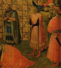Annunciation and Adoration of the Magi,1430-34 Fra Angelico. detail http://1.bp.blogspot.com/-o_GUlGpG-q0/UAP0IrPZtNI/AAAAAAAAG2E/iClC7KtKnWE/s1600/Angelico-_annunciazione_e_adorazione_dei_magi-_1430-1434+det.jpg