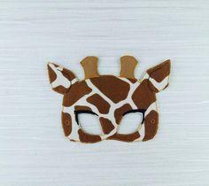 Giraffe Mask for Childrens Pretend Play - Felt Giraffe Costume - Birthday Party - Party Favor - Halloween - Dress Up Fancy Dress - African by AHeartlyCraft on Etsy