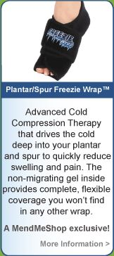 Relieve the pain of plantar fasciitis with a cold compress