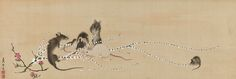 Nagasawa Rosetsu | Mice on Rice-Cake Flowers