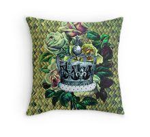 """Vintage Dreams"" -  Royal Crown & Roses Throw Pillow"