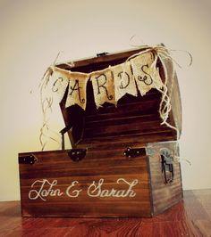 Wedding Card Box Shabby Chic Rustic Wooden Card Box