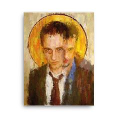 Fight Club icon by Vart. Painting Art, Paintings, Iconic Movies, Fight Club, Expressionism, Maya, Oil On Canvas, Cool Art, Cool Stuff