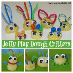 Jelly Play Dough Critters (can use Jello)