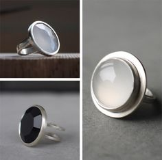Beautiful Rings for your jewelry collection Modern Jewelry, Metal Jewelry, Jewelry Art, Jewelry Bracelets, Silver Jewelry, Silver Rings, Jewelry Design, Jewellery, Best Friend Jewelry