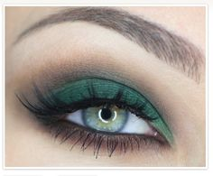 Green eye makeup for St. Patrick's day?