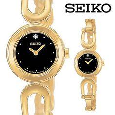 Seiko Women's Genuine Diamond Goldtone Bangle Watch
