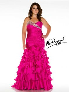 010038613d5 I like the lace-up back and the ruffles. Mermaid Style Prom Dresses