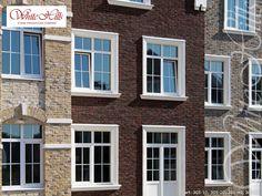 White Hills Verblendziegel, verschiedene Serie  (Ziegelfassade) - White Hills facing bricks Building Materials, Bricks, Ramen, Windows, Brick, House, Construction Materials, Window