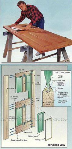 Rail and Stile Door - Door Construction and Techniques | http://WoodArchivist.com