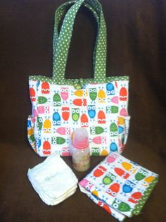 Quilted Baby Doll Diaper Bag  Owls by Needies on Etsy, $29.95