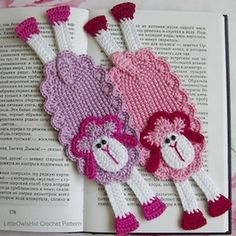 Sheep Bookmark or Decor Amigurumi - $3.50 by Kate of Little Owls Hut / Sheep Part 2 - Animal Crochet Pattern Round Up - Rebeckah's Treasures
