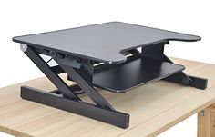 """Standing Desk - the DeskRiser - Height Adjustable Sit Stand - Heavy Duty Supports up to 50 Lbs 32"""" Wide Sit Stand up Desk Converter The House of Trade"""