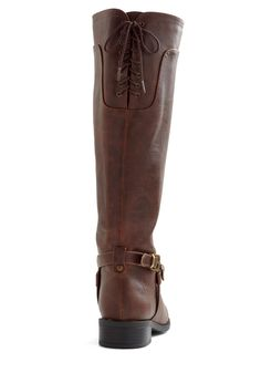 Steadfast Style Boot in Brown. Your keen fashion sense can always spot unparalleled apparel - hence your wide-eyed grin upon glimpsing these dependable knee-high boots! #brown #modcloth