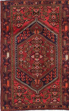 Hamadan Hand-Knotted Red Area Rug Persian Carpet, Persian Rug, Rugs On Carpet, Carpets, Cute House, Throw Rugs, Bohemian Rug, Area Rugs, Favorite Things