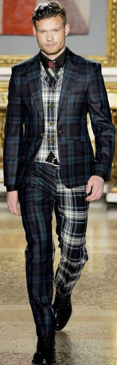 Vivienne Westwood - How to match your trousers both with waistcoat and Jacket!