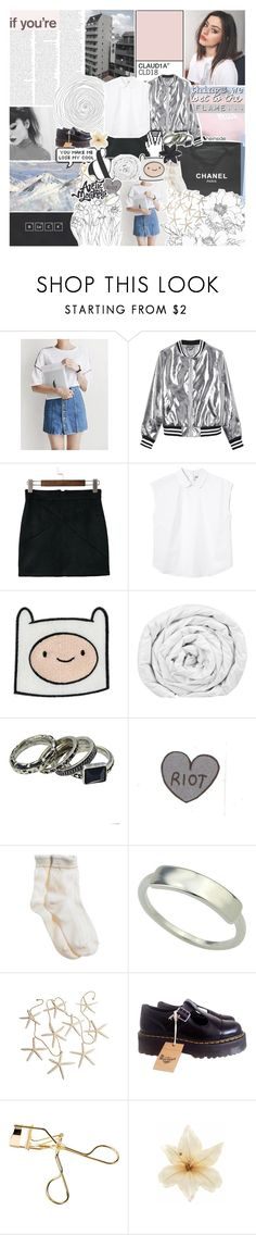 """""""it was love, i know you know that"""" by kristen-gregory-sexy-sports-babe ❤ liked on Polyvore featuring Chanel, UPTOWNHOLIC, Sans Souci, Monki, Brinkhaus, Aerie, Dr. Martens, Clips, ASOS and bedroom"""