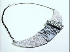 Video: Steps to making a textured collar necklace.  #Polymer #Clay #Tutorials
