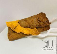 Женские сумки ручной работы. Ярмарка Мастеров - ручная работа. Купить Листья клатч. Handmade. Кожаная сумка, кожа натуральная