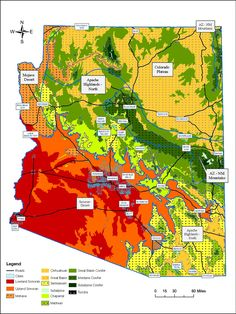 The ecoregions and vegetative communities of Arizona (AZ Fish and Game Department)