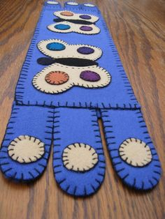 ButterfliesWool Penny Rug Table Runner in by theoldcoatstudios, $29.00