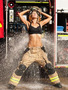 Female firefighters included in charity calendar for the first time