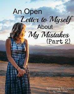 Have you ever made some mistakes and felt unworthy, out-of-control, or confused on what to do next? Click to read what I say to myself in these situations!