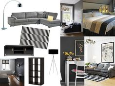 Mocca & Me: Inspiration board: black, white, grey with a touch of yellow