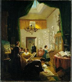 """Women's Art Class"" by Louis Lang (1868) at the Metropolitan Museum of Art, New York"