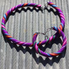 Serape Necklace & Bracelet Set