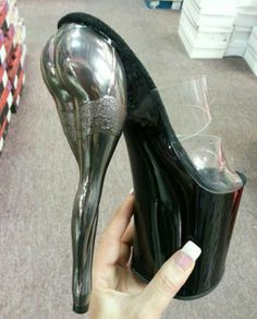 True stripper shoes lol I would so wear these if I were a stripper Hot High Heels, Platform High Heels, Sexy Heels, Coco Photo, Crazy Heels, Stripper Heels, Funky Shoes, Weird Shoes, Unique Shoes