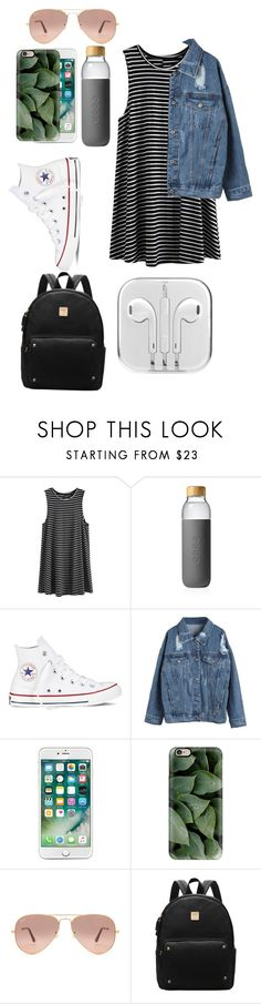 """""""Middle school first day?comment please"""" by celeste-05 ❤ liked on Polyvore featuring Soma, Converse, WithChic, Casetify and Ray-Ban"""