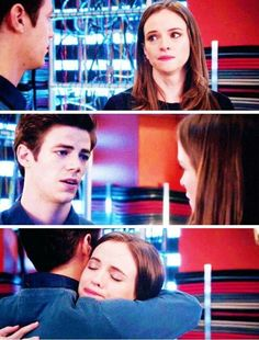 The Flash - Caitlin and Barry- Aww I love them. They look like Baby Mulder and Scully to me and it gives me all the feels.