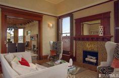 wood trim, fireplace, ceiling