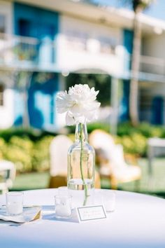 Elegant, Simple White Flower Centerpiece | Catherine Ann Photography