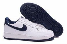 e7e40a74738f01 nouvelle basket nike nike air force 1 low blanche et bleu homme