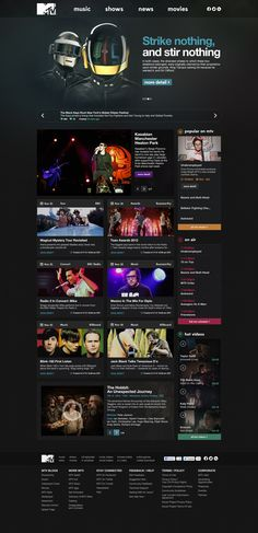 MTV.com Redesign by Oğuz Atılan, via Behance