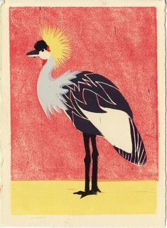 Lino print by Anna See.